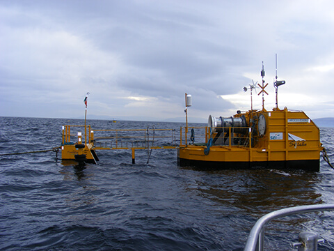 photo of wave measuring buoy
