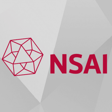 NSAI logo and text graphic on grey background
