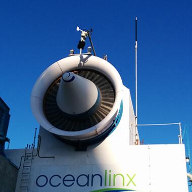 white Oceanlinx marine energy turbine
